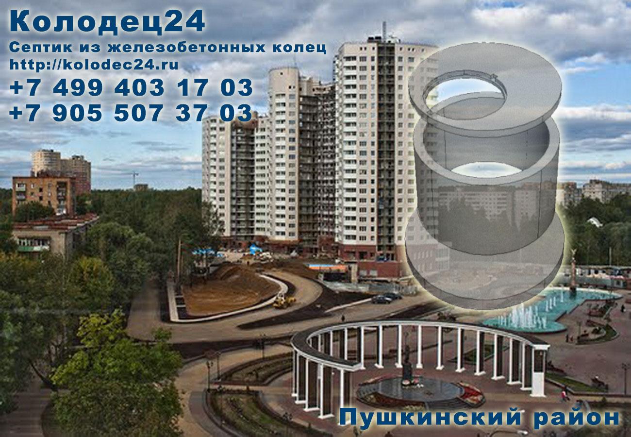 Строительство септик из железобетонных колец Пушкино Пушкинский район