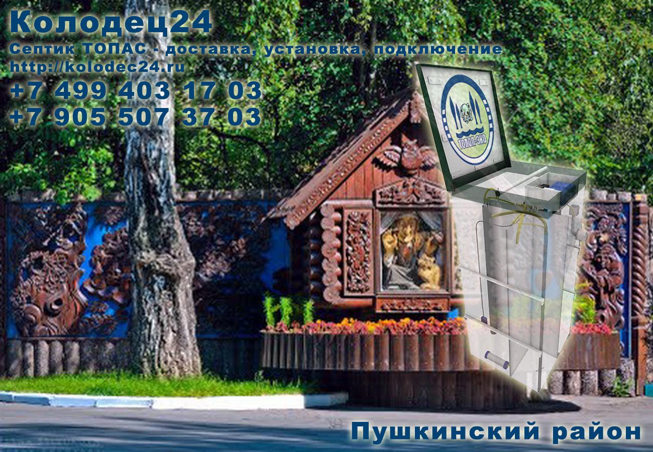 Установка септик ТОПАС Пушкино Пушкинский район