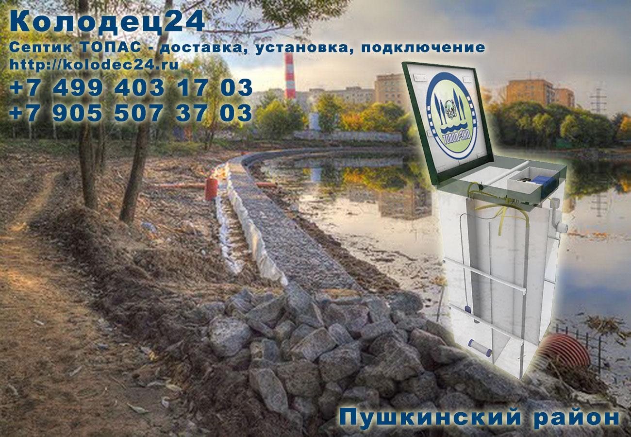 Подключение септик ТОПАС Пушкино Пушкинский район